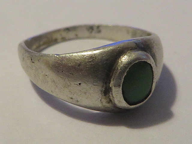 Old Ring With Dull Green Stone