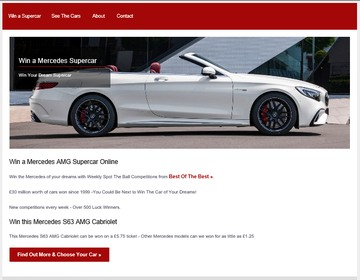 Win a Supercar Website Revamped