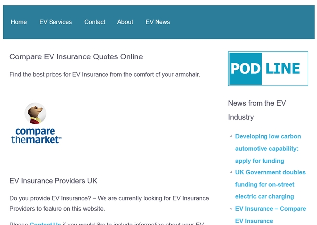 Compare EV Insurance Quotes