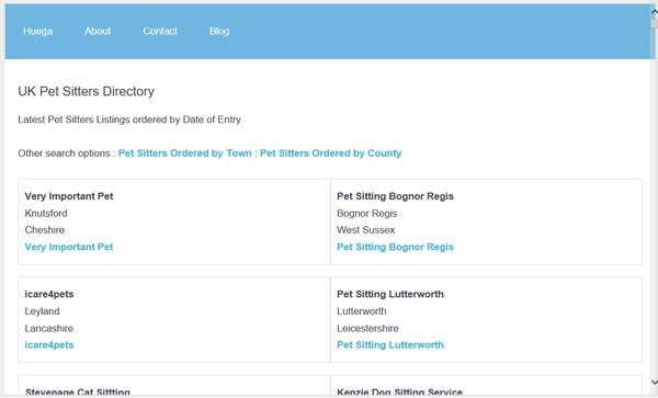 Pet Sitters Directory